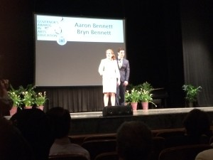 Bennett/Bennett at the 2015 Governor's Awards in Arts Education