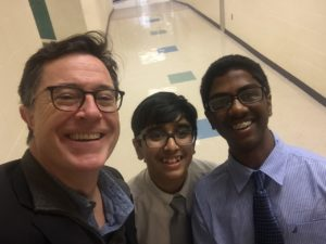 Rahul & Uday Meet Stephen Colbert at CFL #2